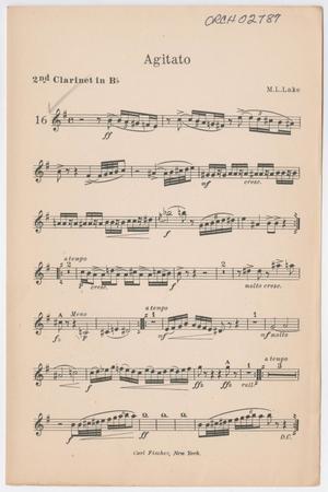 Primary view of Agitato (Heavy): Clarinet 2 in Bb