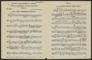 Primary view of Four Indian Love Lyrics: Euphonion Part ORCH-00373-13
