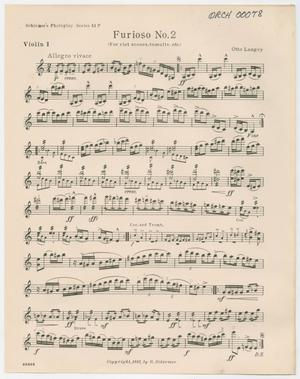 Primary view of Furioso Number 2: Violin I Part ORCH-00078-003