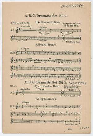 Primary view of Dramatic Set Number 2: 2nd Cornet in Bb Part ORCH-02764-14