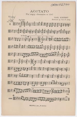 Primary view of Agitato: Viola Part