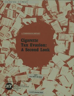 Primary view of object titled 'Cigarette tax evasion : a second look'.