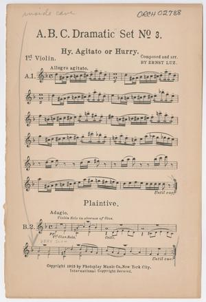 Primary view of Dramatic Set Number 3: 1st Violin Part ORCH-02788-03