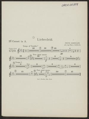 Primary view of Liebesleid: Cornet 2 in A Part