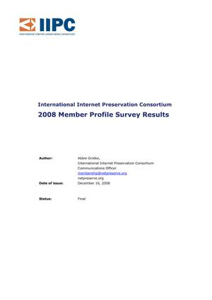 Primary view of 2008 Member Profile Survey Results