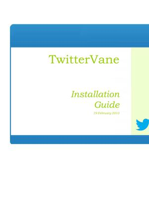 Primary view of object titled 'TwitterVane Installation Guide'.