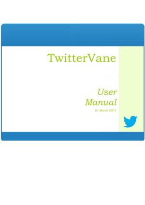 Primary view of TwitterVane User Manual