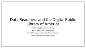 Data Readiness and the Digital Public Library of America