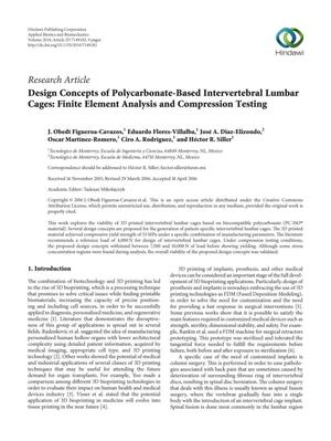 Design Concepts of Polycarbonate-Based Intervertebral Lumbar Cages: Finite Element Analysis and Compression Testing