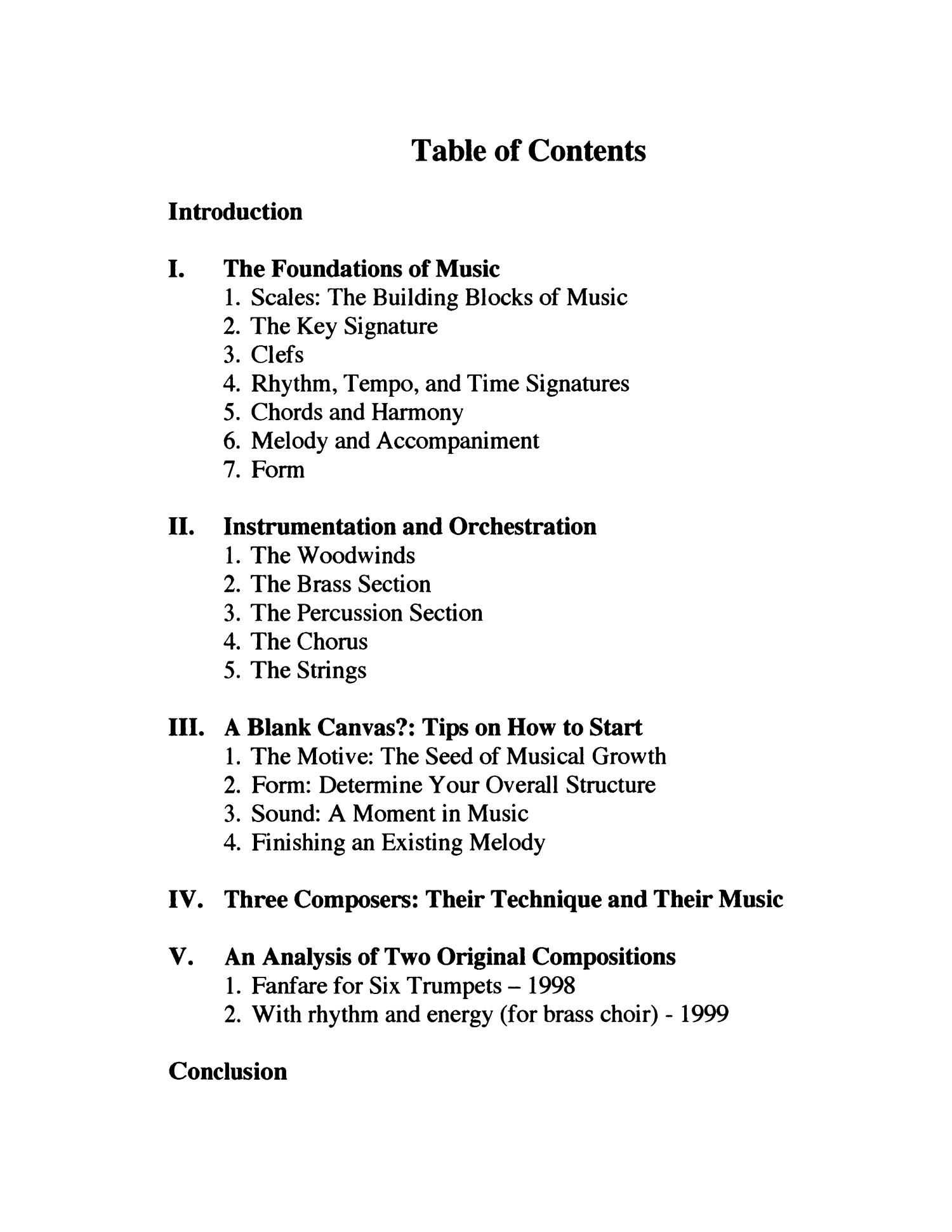 an introduction to the importance of music The art of music composition: an introduction to basic elements, methods, and the importance of modeling as a compositional process, thesis or dissertation, summer 1999 denton, texas.