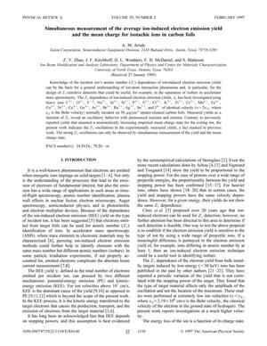 Primary view of object titled 'Simultaneous measurement of the average ion-induced electron emission yield and the mean charge for isotachic ions in carbon foils'.
