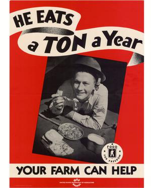 Primary view of object titled 'He eats a ton a year : your farm can help.'.