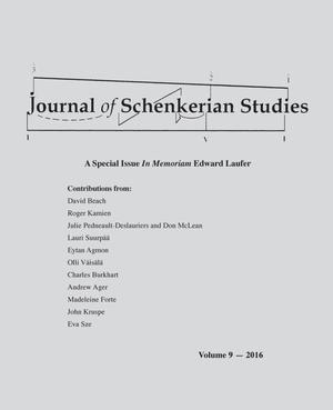 Journal of Schenkerian Studies, Volume 9, 2016
