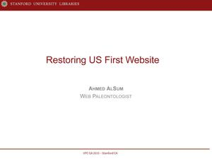 Primary view of Restoring US First Website