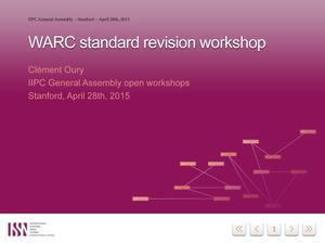 Primary view of WARC Standard Revision Workshop