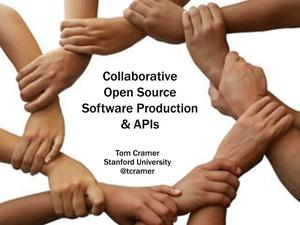 Primary view of Collaborative Open Source Software Production & APIs