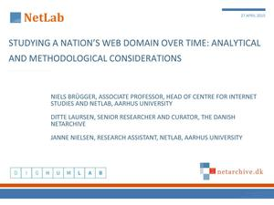Primary view of Studying a Nation's Web Domain Over Time: Analytical and Methodological Considerations