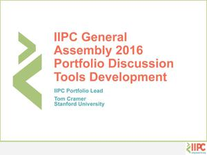 Primary view of Portfolio Discussion: Tools Development