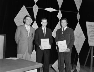 Primary view of [Mullarkey and guests with awards]
