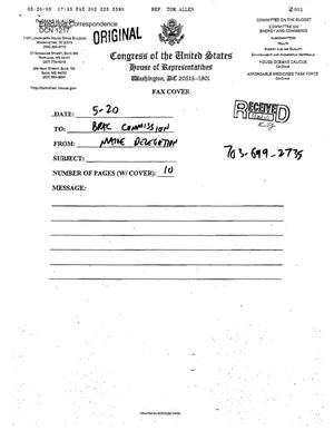 Primary view of object titled 'Letter to all Commissioners from the Maine Congressional Delegation (Senators Snowe and Collins; Representatives Michaud and Allen)'.