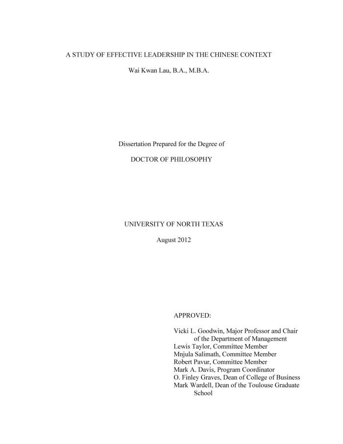 Context study dissertation