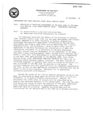 Primary view of object titled 'Cherry Point Navy Data Certification Letter'.