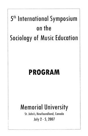 5th International Symposium on the Sociology of Music Education