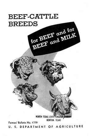 Primary view of object titled 'Beef-cattle breeds for beef and for beef and milk.'.