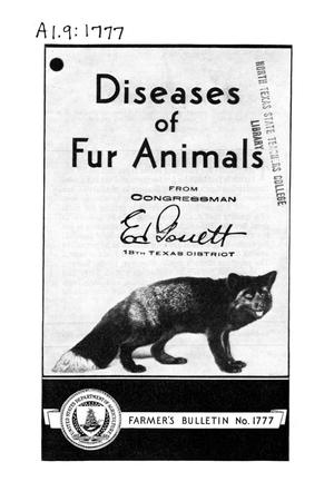 Primary view of object titled 'Diseases of fur animals.'.