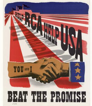 Primary view of object titled 'Help RCA, help USA : you and I : beat the promise.'.