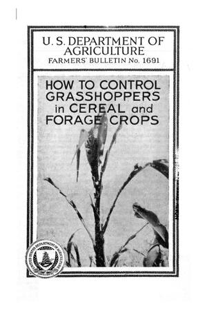 Primary view of object titled 'How to control grasshoppers in cereal and forage crops.'.