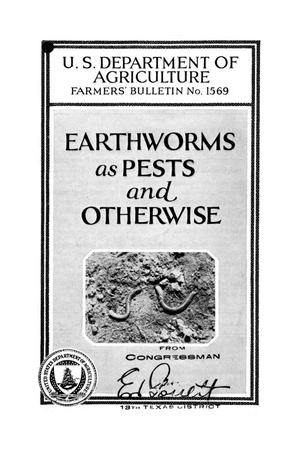 Primary view of object titled 'Earthworms as pests and otherwise.'.
