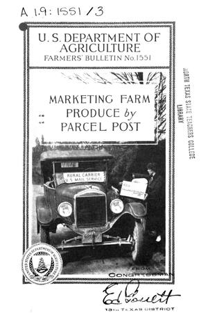 Primary view of object titled 'Marketing farm produce by parcel post.'.