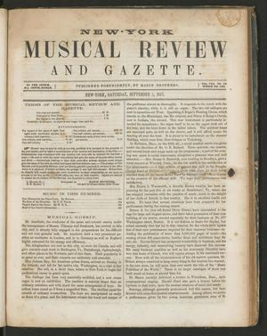 Primary view of New York Musical Review and Gazette, Volume 8, Number 18, September 5, 1857