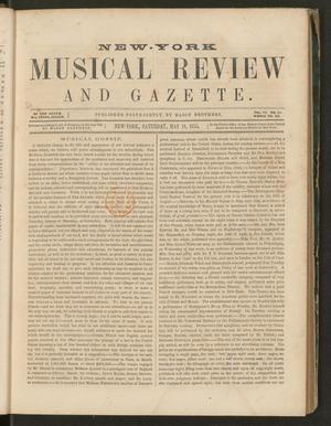 Primary view of New York Musical Review and Gazette, Volume 6, Number 11, May 19, 1855