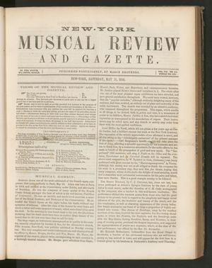 Primary view of New York Musical Review and Gazette, Volume 7, Number 11, May 31, 1856