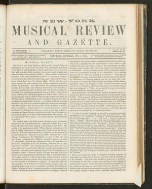 Primary view of New York Musical Review and Gazette, Volume 6, Number 21, October 6, 1855
