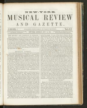 Primary view of New York Musical Review and Gazette, Volume 6, Number 20, September 22, 1855