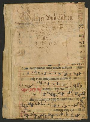 Primary view of Chant pages used as binding