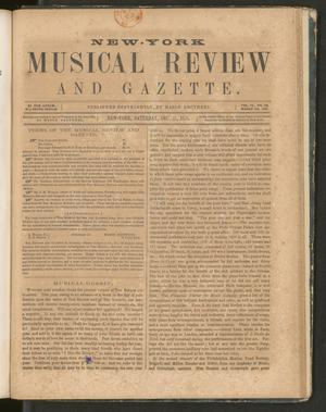 Primary view of New York Musical Review and Gazette, Volume 6, Number 26, December 15, 1855