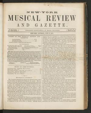 Primary view of New York Musical Review and Gazette, Volume 8, Number 13, June 27, 1857