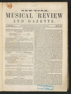 Primary view of New York Musical Review and Gazette, Volume 8, Number 1, January 10, 1857