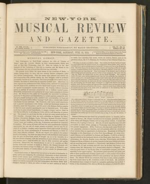 Primary view of New York Musical Review and Gazette, Volume 6, Number 14, June 30, 1855