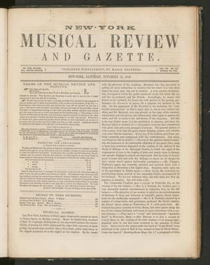 Primary view of New York Musical Review and Gazette, Volume 7, Number 2, November 15, 1856
