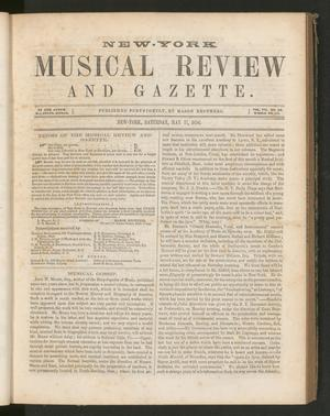 Primary view of New York Musical Review and Gazette, Volume 7, Number 10, May 17, 1856
