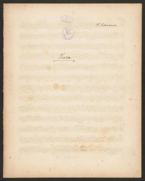 Primary view of Grand quatuor pour deux violons, alto e violoncelle: œuvre posthume - viola