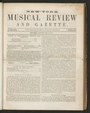 Primary view of New York Musical Review and Gazette, Volume 8, Number 11, May 30, 1857
