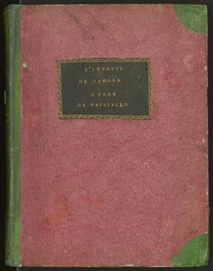 Primary view of L'infante de Zamora: opéra comique en trois actes