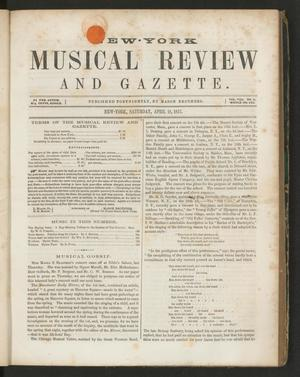Primary view of New York Musical Review and Gazette, Volume 8, Number 8, April 18, 1857