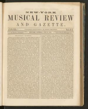 Primary view of New York Musical Review and Gazette, Volume 6, Number 13, June 16, 1855